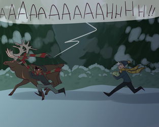 don't pet reindeer at night by owlspiice