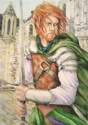 A Brave Warrior Defends the Keep by Emma-Louise-Faeries