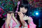 Playing the flute in this beautiful night ::::: by Witchiko