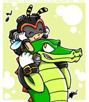 Charmy and Vector by anniemae04