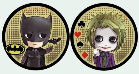 Batman Button set by Radittz