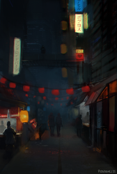 Night street by mousez