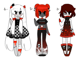 Red Aliens CLOSED by MaiaSadoptsNstuff