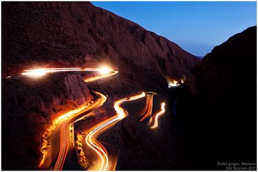 Dades Gorges at night by ollite20