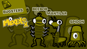 Mixels X (My Own Sets) - Tribe 2/3 Bugsters by veemonlover