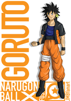 Goruto (Goku and Naruto fusion) by JMBfanart