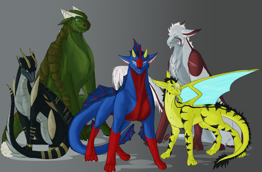 Dragons by Nykraly