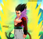 Gotenks ssj4 by HelvecioBNF