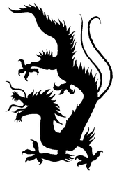 Chinesse Dragon Silhouette by Samantha-dragon