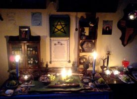Litha Altar - After the Ritual by DeadPeppermint