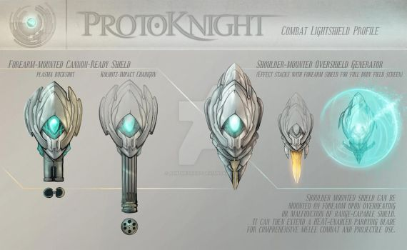 Concept - Protoknight, Shields by AenTheArtist