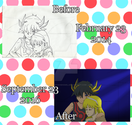 .Redraw Again Meme Before and After #2. by FMAandYGO5dsgirl