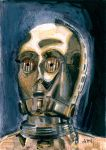 C-3P0 Sketch Card by Stungeon