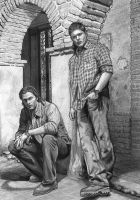 Sam and Dean by lupinemagic