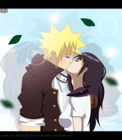 NaruHina highschool Love kiss by Sarah927Artworks