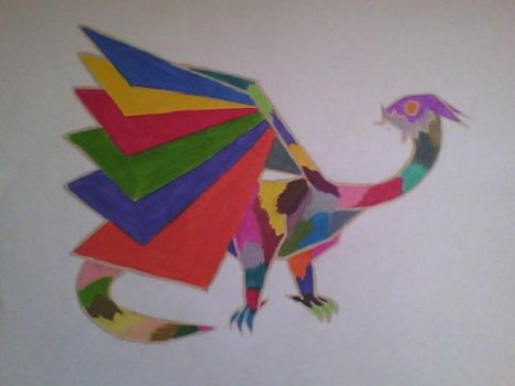 Rainbow Dragon by RaichuFanxDDDD