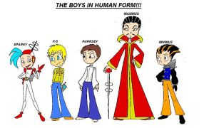 boys in human form by kimtheartist