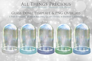 GLASS DOME PSD Template and OVERLAYS by AllThingsPrecious