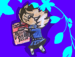 :.THUNDER STRIPE AND POCKY PAPER CHIBI(#1) by swaggamer3333