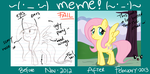 before after meme by CosmicPonye