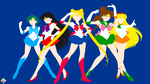 Sailor Moon - Group by SelflessDevotions