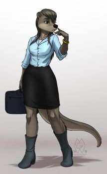Nat's Workplace Outfit by MykeGreywolf