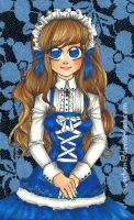 Blue Porcelain Lolita Doll by aruachan