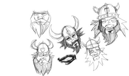 Viking Sketch for Hockey Logo 1 by garald4