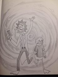 Rick and Morty of Duckburg by Artist-on-Board