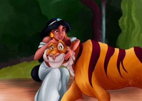 Jasmine and Rajah by Hyzenthlay89