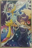 Team Moon ft. Olympia and Lunala by PinkPalkia