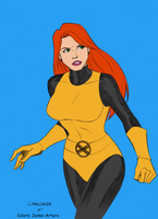 X-men Evolution Jean Grey in first class uniform by marvelboy1974