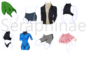 Clothing Study by Seraphinae
