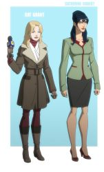 YOUNG JUSTICE: CAT GRANT and CATHERINE COBERT by Jerome-K-Moore