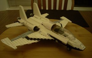 LEGO Fighter Jet Right Front Quarter View by NihonFreakMB