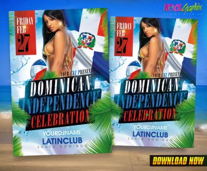 Dominican Independence Celebration Party Flyer by KoolGfx