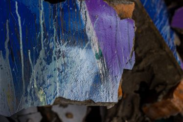 The depth in a broken abstract painting by Multiartis