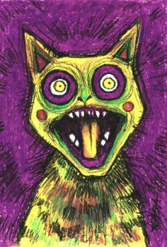 The Yellow Screaming Cat by KasaLaurend