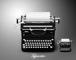 Typewriter icon by MDGraphs
