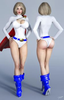 Character Reference Power Girl v2 by tiangtam