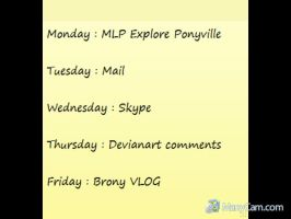 Youtube 5 Day List Of THINGS by brony4all