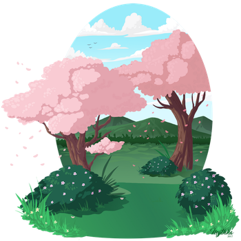WIP Background for Spring Designs by Mythka