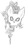 Bunny Skull Tattoo Design by wolf-girl87