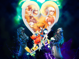 Kingdom Hearts Wall by Sugar by Gabiito13