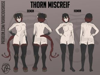 Thorn Miscreif Reference Sheet by VoraciousRose