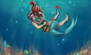 The Mermaid and the Boy by mideva
