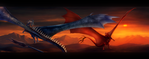 Saphira Vs Thorn ~ Speed-painting by Enigmatic-Ki