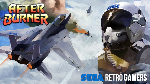 SRG After Burner Cover Wallpaper by RetroGamersHub