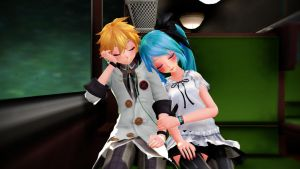 [MMD] Falling Asleep on the Train by CrazyImmor