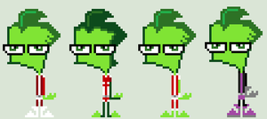 Invader Zim Beast Boy Cosplay Sprites by HonorAmongScars